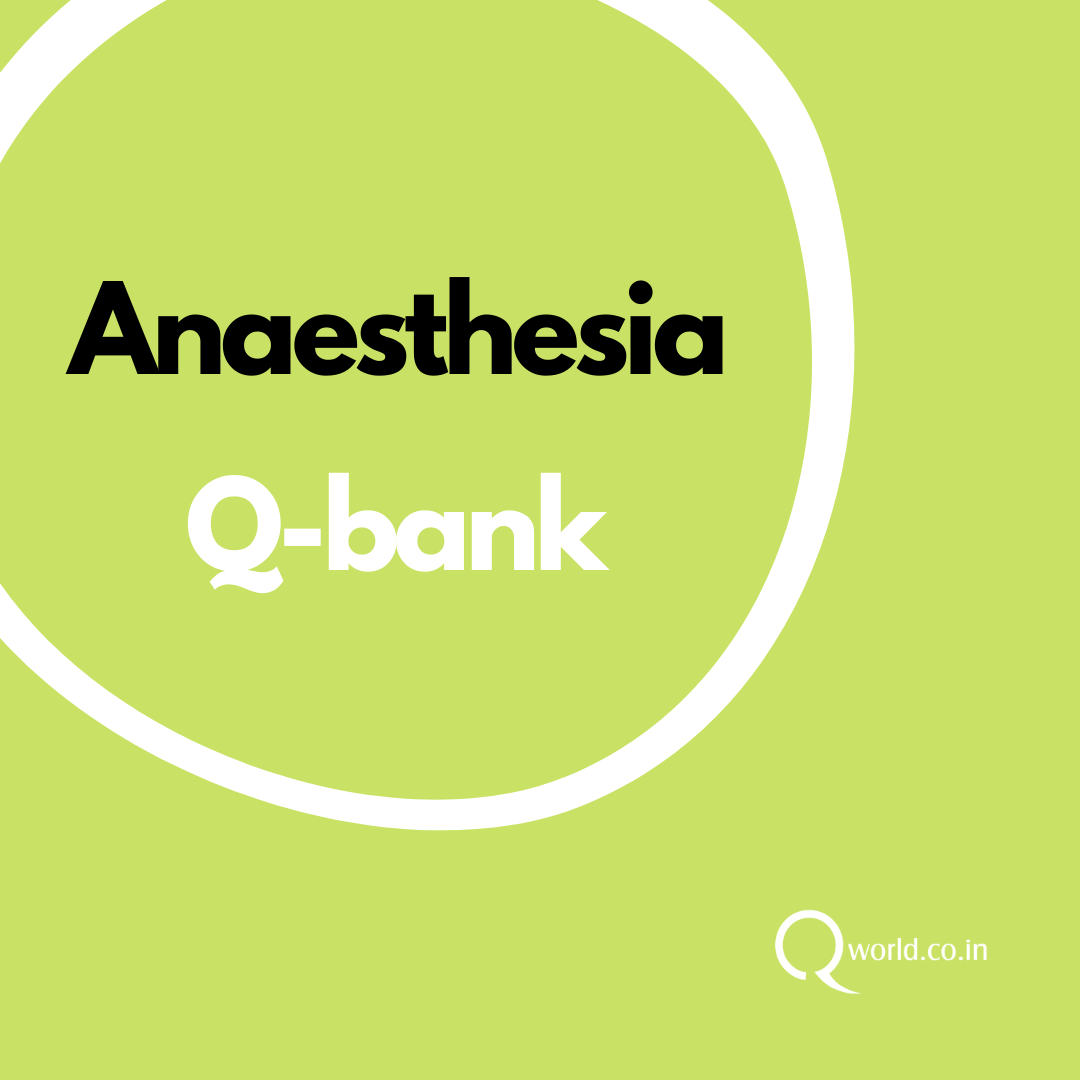 Anaesthesia MCQ Bank